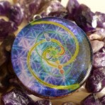 DEEP SPACE FLOWER OF LIFE ORGONE PENDANT