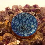 FLOWER OF LIFE BLUE COLOR ORGONE PENDANT