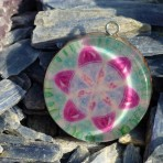 Seed of Life inside Flower of Life Orgone Pendant