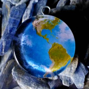 planet earth pendant orgone