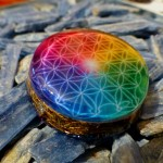 COLORFUL FLOWER OF LIFE ORGONE PENDANT