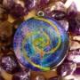 2 DEEP SPACE FLOWER OF LIFE VESICA PICES FIBONACCI PENDANT BY COSMIC ENERGY 3