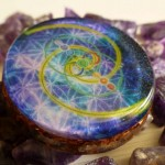 3 DEEP SPACE FLOWER OF LIFE VESICA PICES FIBONACCI PENDANT BY COSMIC ENERGY 2