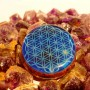 Flower of life in Blue color by cosmic energy orgone pendant
