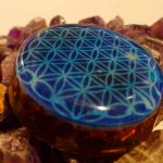 Flower of life in Blue color by cosmic energy 3