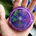 violet recharging orgone plate disc