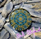 Water Code – Mandala by Gail Alexander – Special Orgone Pendant ( 8 CRYSTALS )