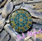 Water Code – Mandala by Gail Alexander – Special Orgone Pendant ( 8 CRYSTALS )