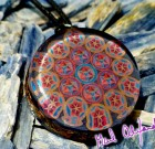 Merkaba / Metatron Flower of Life – Mandala by Gail Alexander – Special Orgone Pendant (8 CRYSTALS)