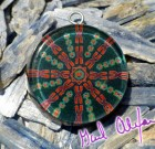 Magnetic Forces – Mandala by Gail Alexander – Special Orgone Pendant ( 8 CRYSTALS )