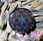 Metatron's Cube – Mandala by Gail Alexander – Special Orgone Pendant ( 8 CRYSTALS )