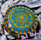 Aztec / Mayan Gate – Mandala by Gail Alexander – Special Orgone Pendant (8 CRYSTALS)