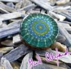 Divine Heart Regeneration – Mandala by Gail Alexander – Special Orgone Pendant (8 CRYSTALS)