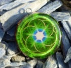Green Seed of Life Sacred Geometry Orgone Pendant