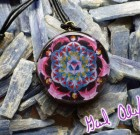 Dolphin Flower of Life with LARIMAR – Mandala by Gail Alexander – Special Orgone Pendant