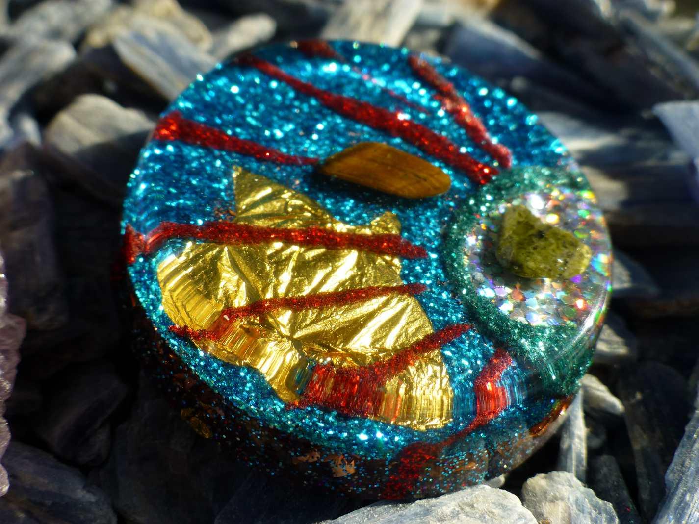 Custom orgone pendant with moldavite larimar herkimer or any custom orgone pendant aloadofball Choice Image