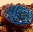 Blue Flower of Life Orgone Pendant