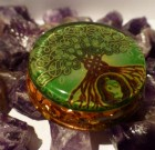 Unique Spiritual Orgone Pendant with Tree of Life on front side