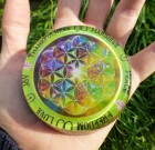 Healing / Recharging Orgone Plate (8 cm) GREEN COLOR