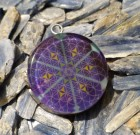 Atlantean Flower of Life with Merkaba Orgone Pendant