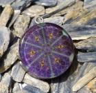 Atlantean Flower of Life with Merkaba Orgone Pendant