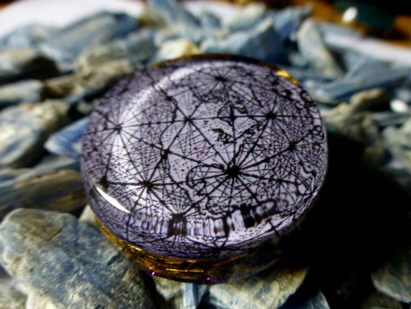Earth Ley Lines Ancient Map Orgone Pendant Programmed With 432hz