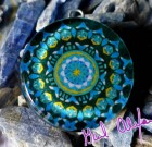Ancient / Future Gate – Mandala by Gail Alexander – Special Orgone Pendant ( 8 CRYSTALS )