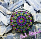 Platonic Solids – Mandala by Gail Alexander – Special Orgone Pendant ( 8 CRYSTALS )