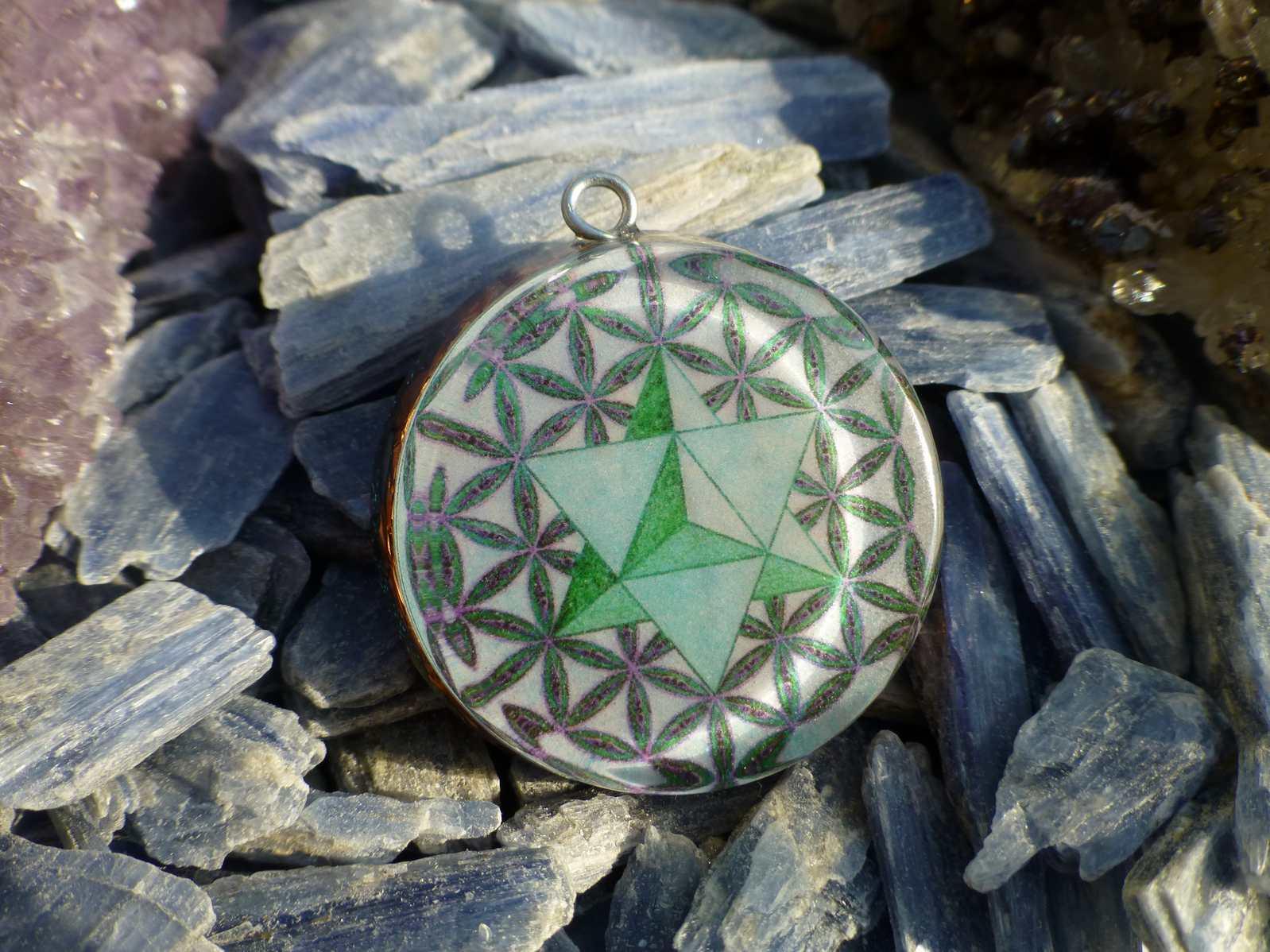 Merkaba inside flower of life orgone pendant orgone pendants by merkaba inside flower of life orgone pendant aloadofball Gallery