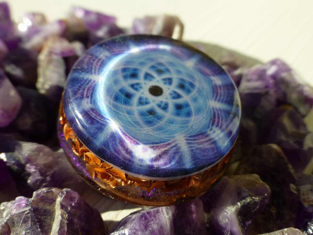 Seed of life spiritual orgone pendant orgone pendants by cosmic energy seed of life spiritual orgone pendant mozeypictures Choice Image