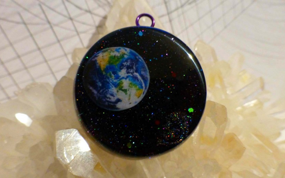 EARTH from SPACE orgone pendant – VIDEO Included*