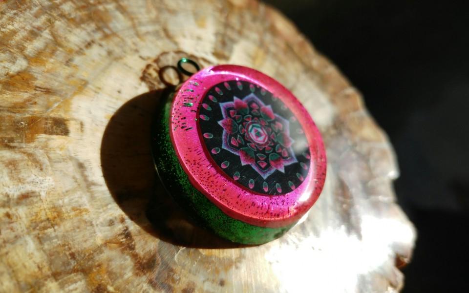 Watermelon Tourmaline Mandala by Gail Alexander
