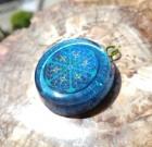 Atlantean Flower of Life metallic blue